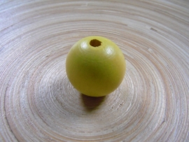 Grote houten kraal 23 mm