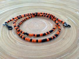 Mondkapjes koordje oranje en zwart. Helloween.