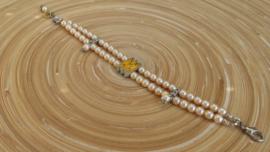 Gele glasparel armband