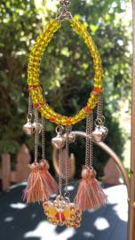 Vlinder oorbellen in Ibiza-Style van gele tinten