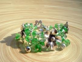Armband met bloemverdelers