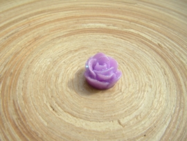 Cabochon roosje lila