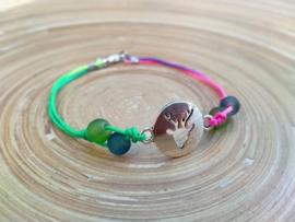 Rainbow Chamballa armbandje met herten connector