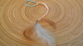 Abrikoos-kleurig ibiza-style haarbandje