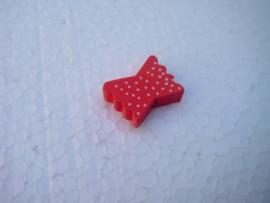 Houten vlinderstrikje - rood