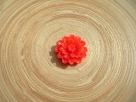Resin rood cabochon roosje 20 mm