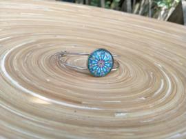Blauwe multicolor Mandala bangle
