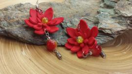 Rode bloemoorbellen