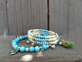 Turquoise armbanden setje