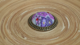 Brocante brads/splitpen lila