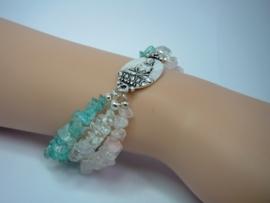 Armband Buddha van splitkralen