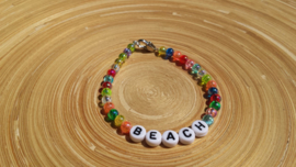 Ibiza letter-armbandje ' beach '