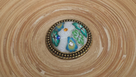 Brocante brads/splitpen turquoise