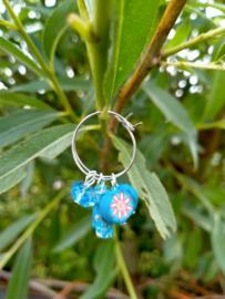Turquoise mini creolen