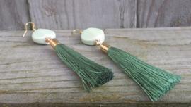 Mintgroene keramieke oorbellen