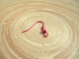 Set van 2 oorbelhaakjes roze