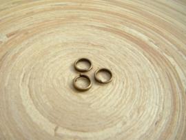 100 Bronskleurige splitringetjes 5mm