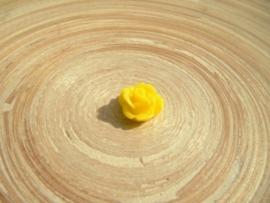 Cabochon roosje geel