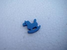 Houten Hobbelpaardje - blauw