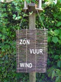 Tekstmat - Zon vuur wind