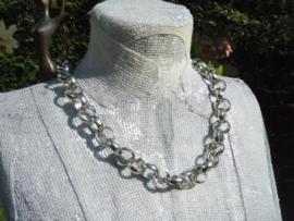 Zilverlook Jasseron ketting