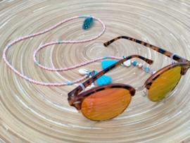 Roze/turquoise brillenkoord