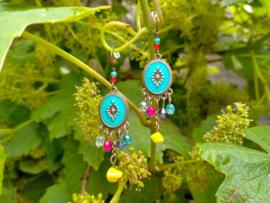 Turquoise/color oorbellen