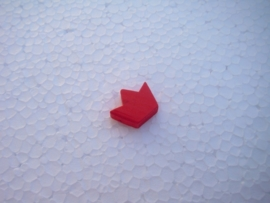 Houten kroontje - rood