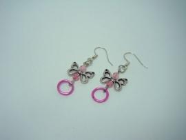 Kinder-oorbellen roze