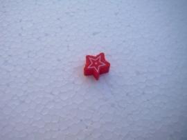 Houten sterretje - rood