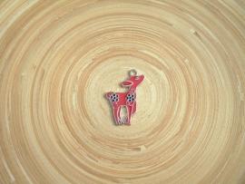 Rood metalen hert bedel