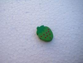 Houten aardbei - groen