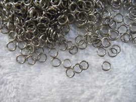 150 open ringetjes in oud zilverlook