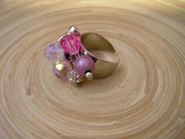 Open ring in rose/zilverlook