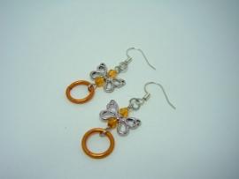 Kinder-oorbellen oranje