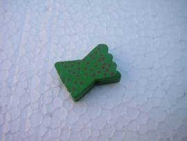 Houten vlinderstrikje - groen