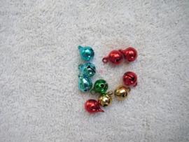 10 metallic gekleurde metalen belletjes
