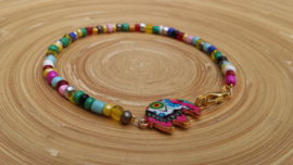 Enkelbandje multicolors met olifant
