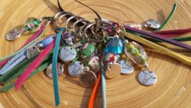 Gekleurde hangertjes voor aan je tas/sleutelhanger of als bedankje