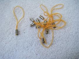 5 Stuks telefoon/mobielkoordjes in oranje, geel, rood