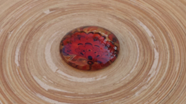 Rood/bruine cabochon 25 mm