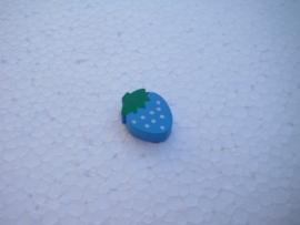 Houten aardbei - blauw