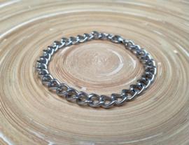 Stainless steel heren schakelarmband