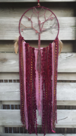 Dromenvanger levensboom bordeaux rood/old roze  Maat M