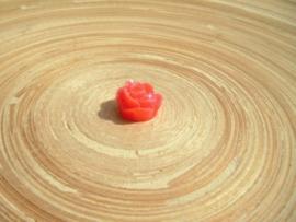 Cabochon roosje rood