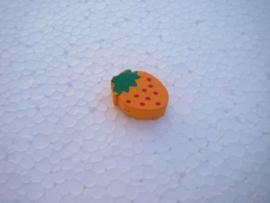 Houten aardbei - oranje