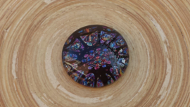Cabochon blauw/paars 25 mm