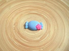Cabochon lichtblauw/roze