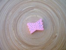 Houten vlinderstrikje - roze