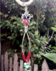 Oorbellen met uiltjes ornamenten